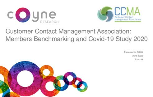 CCMA Benchmarking & Covid 19 Member Study June 2020